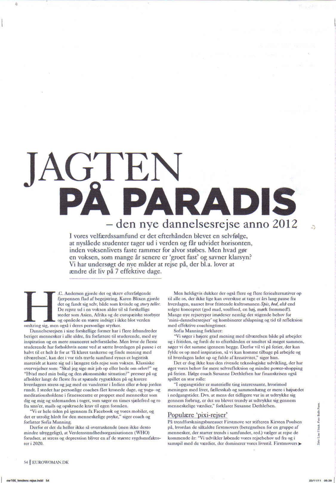 Danish Magazine Mention