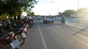 Motorbikes on Canal Road